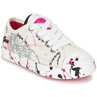 kengät Lapset Matalavartiset tennarit Geox J CIAK G. D White / Pink
