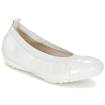 kengät Tytöt Balleriinat Geox J PIUMA BALL B White