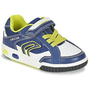 kengät Pojat Matalavartiset tennarit Geox J GREGG A Blue / Citron