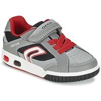 kengät Pojat Matalavartiset tennarit Geox J GREGG A Grey / Red