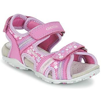 kengät Tytöt Urheilusandaalit Geox J S.ROXANNE A Pink