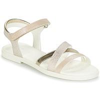 kengät Tytöt Sandaalit ja avokkaat Geox J S.KARLY G.D Beige / Kulta