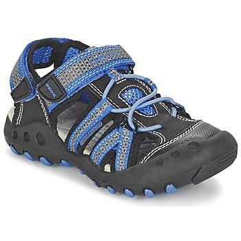 kengät Pojat Urheilusandaalit Geox J SAND.KYLE C Black / Blue