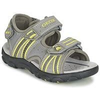 kengät Pojat Urheilusandaalit Geox J S.STRADA A Grey / Green