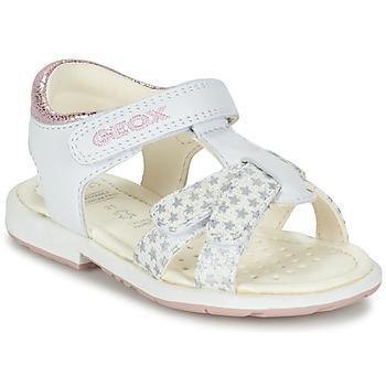 kengät Tytöt Sandaalit ja avokkaat Geox B SAN.VERRED D White