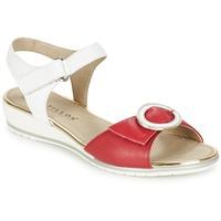 kengät Naiset Sandaalit ja avokkaat Pitillos MERVA White / Red