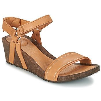 kengät Naiset Sandaalit ja avokkaat Teva YSIDRO STITCH WEDGE COGNAC