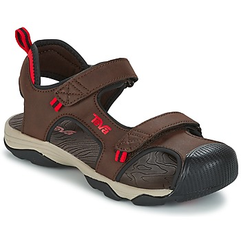 kengät Pojat Urheilusandaalit Teva TOACHI 4 Brown / Black / Red