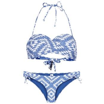 vaatteet Naiset kaksiosainen uimapuku Rip Curl DEL SOL BANDEAU SET Blue / White