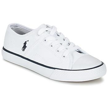 kengät Lapset Matalavartiset tennarit Ralph Lauren DYLAND White