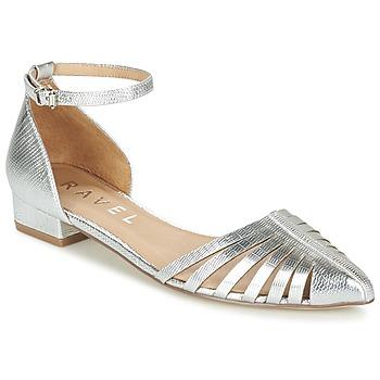 kengät Naiset Balleriinat Ravel MEDINA Silver