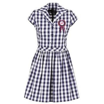 vaatteet Naiset Lyhyt mekko Love Moschino WVF3001 Blue / White