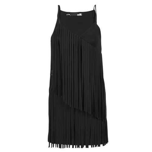 vaatteet Naiset Lyhyt mekko Love Moschino W595800 Musta
