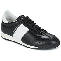 kengät Miehet Matalavartiset tennarit Roberto Cavalli 2042A Black / White