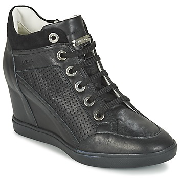 kengät Naiset Korkeavartiset tennarit Geox ELENI C Black