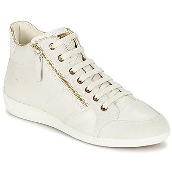 kengät Naiset Korkeavartiset tennarit Geox MYRIA White
