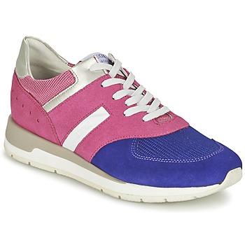 kengät Naiset Matalavartiset tennarit Geox SHAHIRA A Pink / Violet