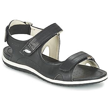 kengät Naiset Urheilusandaalit Geox D SAND.VEGA A Black