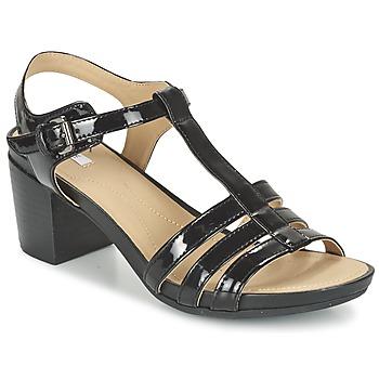 kengät Naiset Sandaalit ja avokkaat Geox D SYMI C Black
