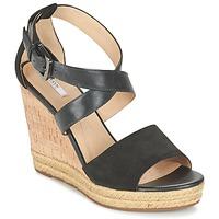 kengät Naiset Sandaalit ja avokkaat Geox D JANIRA E Black