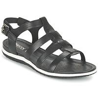 kengät Naiset Sandaalit ja avokkaat Geox D SAND.VEGA A Musta