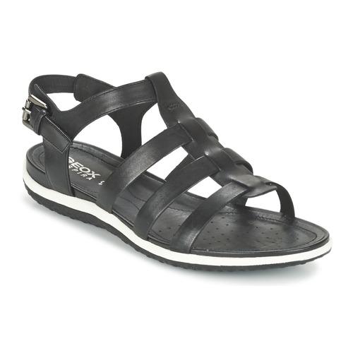 kengät Naiset Sandaalit ja avokkaat Geox D SAND.VEGA A Black