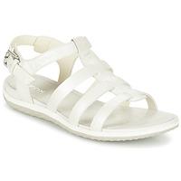 kengät Naiset Sandaalit ja avokkaat Geox D SAND.VEGA A White