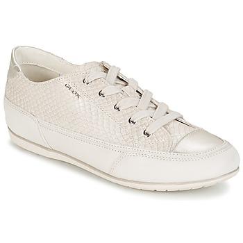 kengät Naiset Matalavartiset tennarit Geox NEW MOENA White