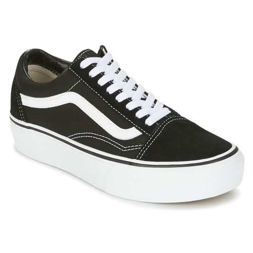 kengät Naiset Matalavartiset tennarit Vans UA OLD SKOOL PLATFOR Black / White