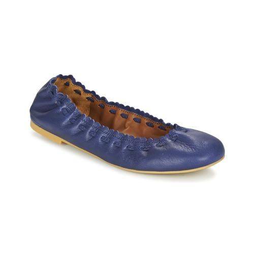 kengät Naiset Balleriinat See by Chloé SB28021 Laivastonsininen