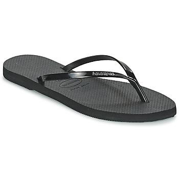kengät Naiset Varvassandaalit Havaianas YOU METALLIC Black