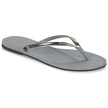 kengät Naiset Varvassandaalit Havaianas YOU METALLIC Grey