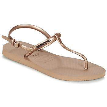 kengät Naiset Varvassandaalit Havaianas FREEDOM Pink / Gold