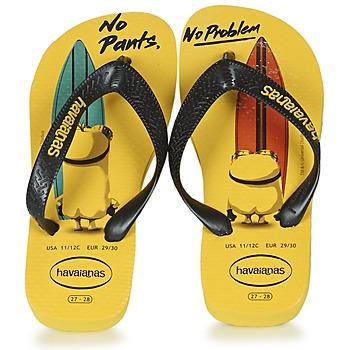 kengät Lapset Varvassandaalit Havaianas KIDS MINIONS Yellow / Black