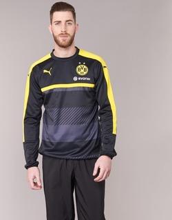 vaatteet Miehet Svetari Puma BVB TRAINING SWEAT Black / Yellow