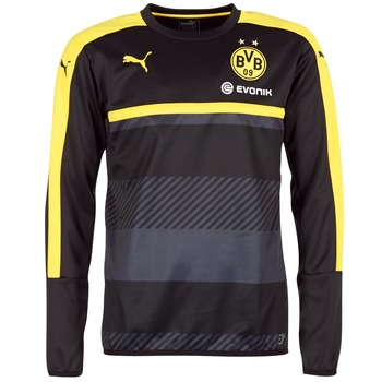 vaatteet Miehet Svetari Puma BVB TRAINING SWEAT Black / Yellow