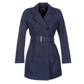 vaatteet Naiset Trenssitakki Geox CREM Laivastonsininen