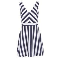 vaatteet Naiset Lyhyt mekko Molly Bracken TRODAK Laivastonsininen / White
