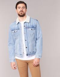 vaatteet Miehet Farkkutakki Levi's TYPE 3 SHERPA TRUCKER Sininen