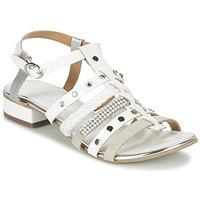 kengät Naiset Sandaalit ja avokkaat Café Noir CAFOUT White / Argenté