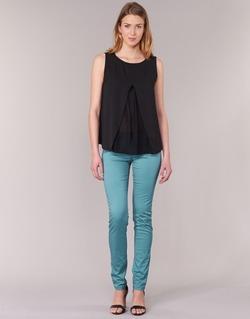vaatteet Naiset 5-taskuiset housut Les P'tites Bombes BEMBRELA Blue