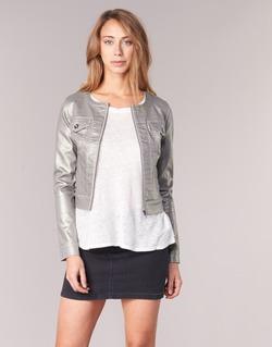 vaatteet Naiset Farkkutakki Les P'tites Bombes OMILATE Silver