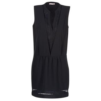 vaatteet Naiset Lyhyt mekko Les P'tites Bombes JOUNE Black