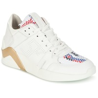 kengät Naiset Korkeavartiset tennarit Serafini CHICAGO White / Kulta