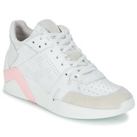 kengät Naiset Korkeavartiset tennarit Serafini CHICAGO White / Pink