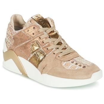 kengät Naiset Korkeavartiset tennarit Serafini CHICAGO BEIGE / Gold