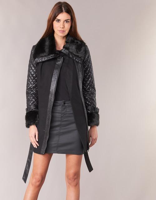 vaatteet Naiset Paksu takki Morgan GEFROU Black