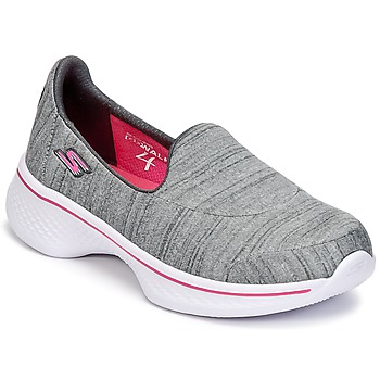 kengät Tytöt Tennarit Skechers GO WALK 4 Grey