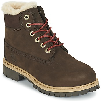 kengät Lapset Bootsit Timberland 6 IN PRMWPSHEARLING Brown