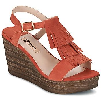 kengät Naiset Sandaalit ja avokkaat Spiral CARLA Orange